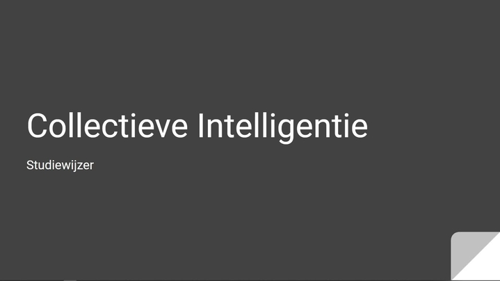 Thumbnail for channel Collectieve Intelligentie