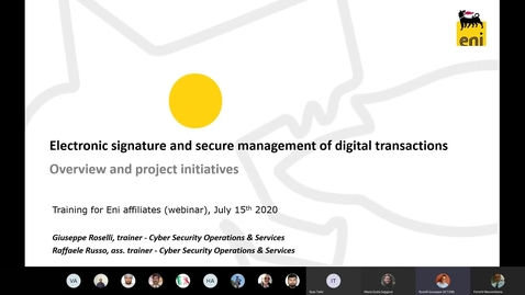 Thumbnail for entry Electronic Sig and Secure Mngt Transactions