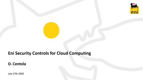 Thumbnail for entry Eni Security Principles for cloud solutions
