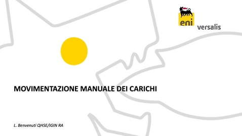 Thumbnail for entry Movimentazione Manuale dei Carichi_modulo 3
