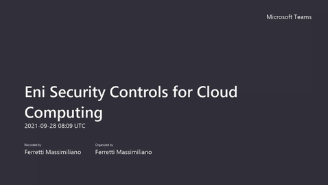 Thumbnail for entry Eni Security Controls for Cloud Computing-20210928
