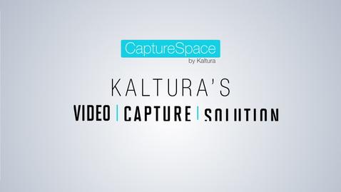 Thumbnail for entry Kaltura CaptureSpace