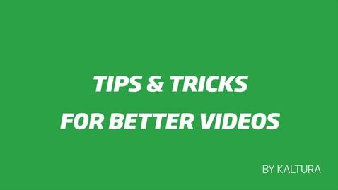 Miniatyr för inlägg Tips & Tricks for Better Videos - Chapter 4 - Post-Production