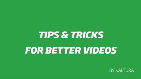 Miniatyr för inlägg Tips & Tricks for Better Videos - Chapter 2 - Recording Video